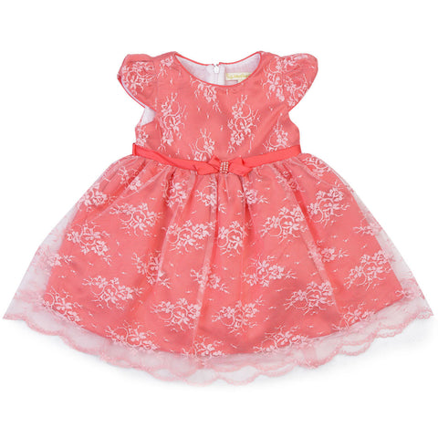 Girls Peach Party Wera Dress