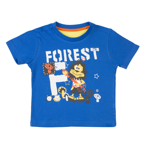 Boys Royal Blue Round Neck T-Shirt