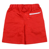 Boys Red Polyester Short