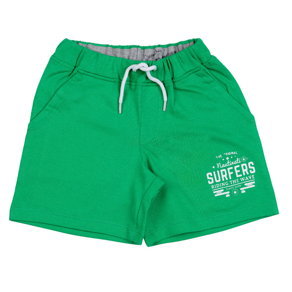 Boys Green Polyester Short