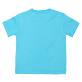 Boys Sky Blue Round Neck T-Shirt