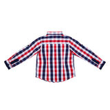 Boys Multiclour Regular Collar Full Sleeves Shirt