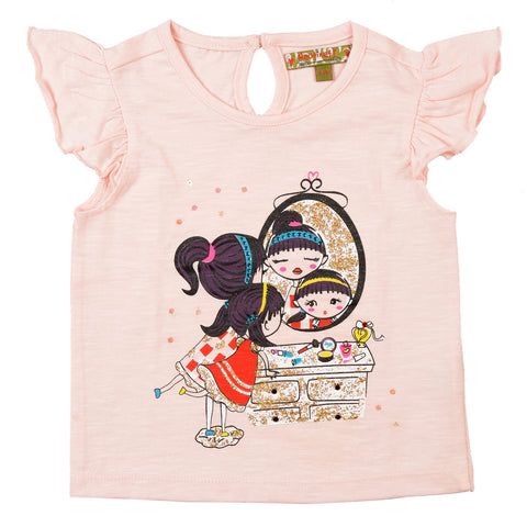 Girls Baby Pink T-Shirt
