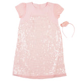 Girls Baby Pink Dress with Sequnce Work