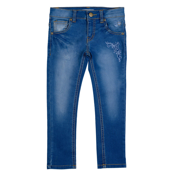 Girls Blue Emb. Denim