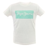 ARTY-J SS Boys White Cotton T-Shirt