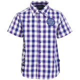 Boys Blue and Purple Colored Check Shirt