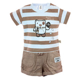 Brown and Sky Blue Nikkar Set