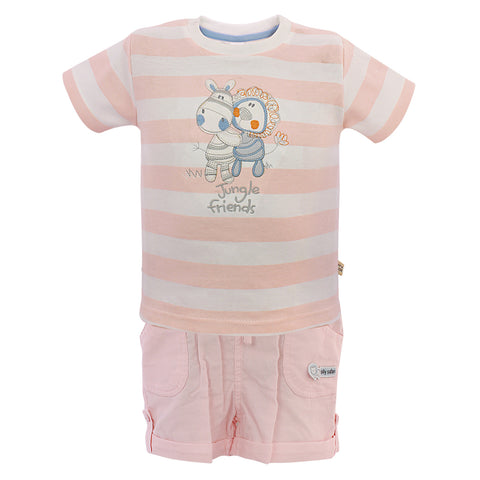 Kids Baby Pink Top & Bottom Set
