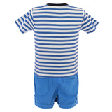 Blue & White Nikkar Set for Boys