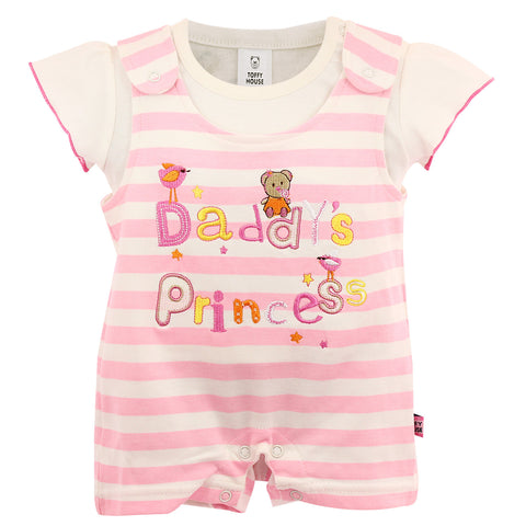 Baby Pink Stripes Romper Set for Kids