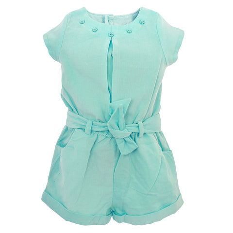 Girls Sky Blue Jumpsuit