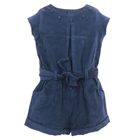 Girls Navy Jumpsuit