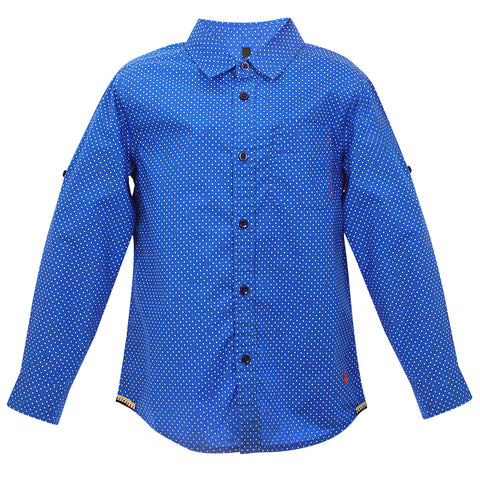 Boys dots Prited F/s Cotton shirt