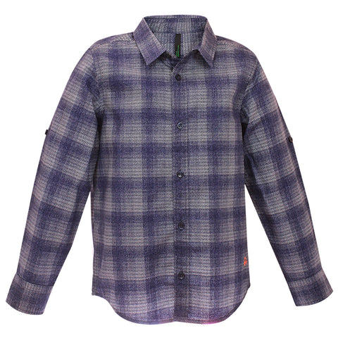 Boys Checks F/s Cotton Shirt