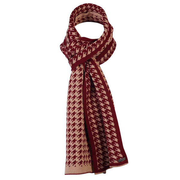 Boys RED CHECK NECK WRAP
