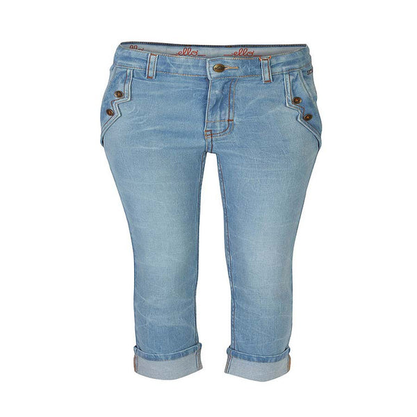 Boys Sky Blue Jeans with Black Welted Pockets