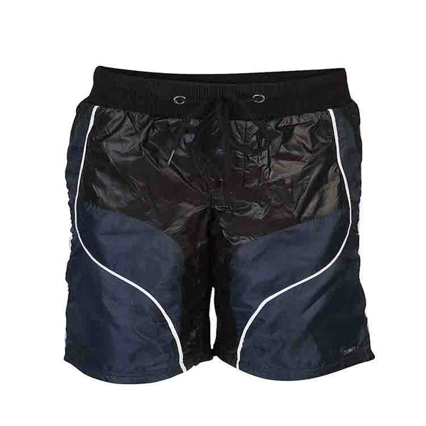 Boys BLACK CUT & SEW PANEL BOTTOM SHORTS