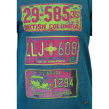 Boys OLIVE GREEN NUMBER PLATE PRINT T-SHIRT