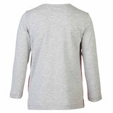 Boys GREY T-SHIRT WITH SUEDE WELT POCKET