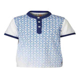 Boys Blue Henley T-shirt with gradation print