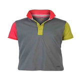 Boys DARK GREY BLOCK PANEL POLO