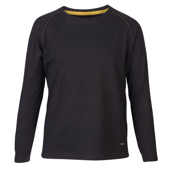 Boys BLACK RAGLAN SLEEVE T-SHIRT