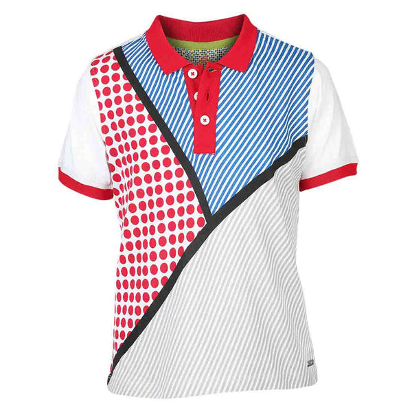 Boys RED MULTI PRINT POLO