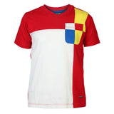 Boys RED BLOCK V NECK T-SHIRT