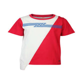 Boys RED SIDE DRAWSTRING T-SHIRT