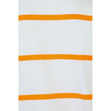 Boys WHITE & ORANGE AUTOSTRIPER POLO T-SHIRT