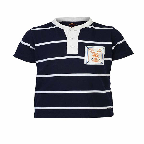 Boys NAVY AUTOSTRIPER POLO T-SHIRT