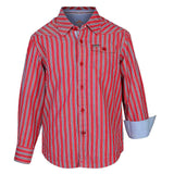 Boys Red Stripes Shirt