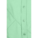 Boys Green Oxford Shirt With Contrast Stitch Lines