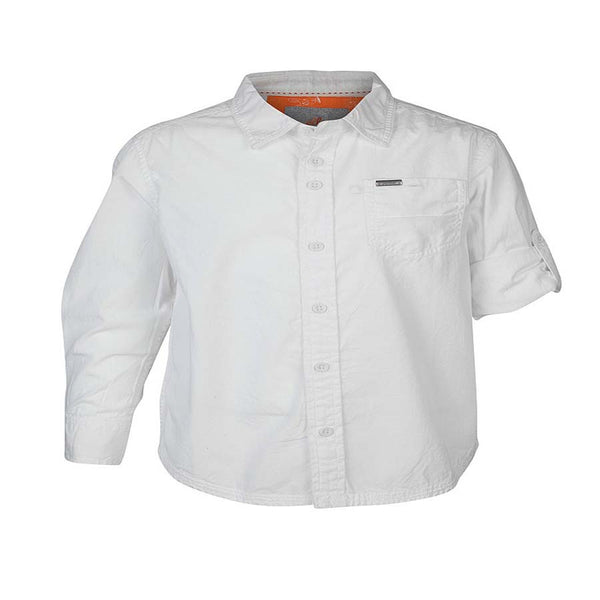 Boys White CPD Wash Shirt With Epaulets