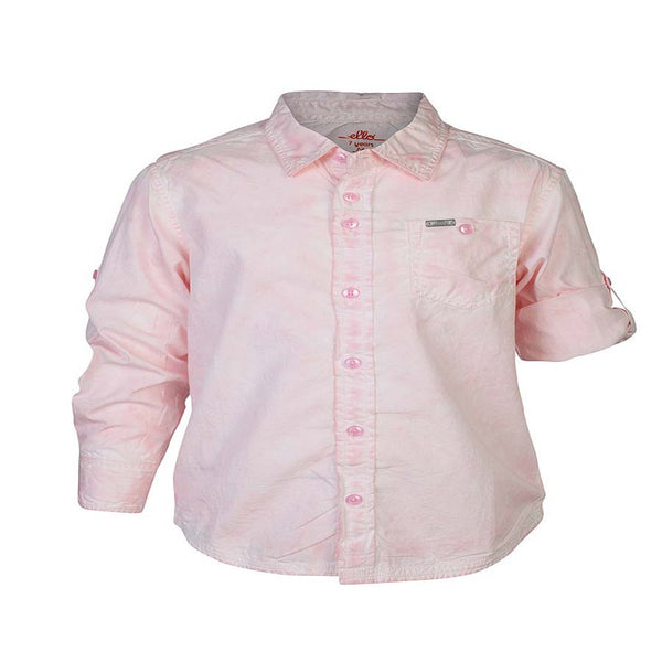 Boys Pink CPD Wash Shirt With Epaulets
