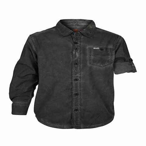 Boys Black CPD Wash Shirt With Epaulets