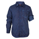 Boys Navy CPD Wash Shirt With Epaulets