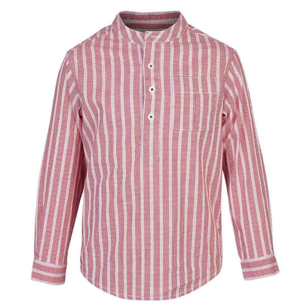 Boys Red Houndstooth shirt