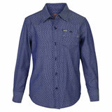 Boys Blue Bedford Cord Shirt