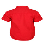 Boys Red Small Collar Shirt