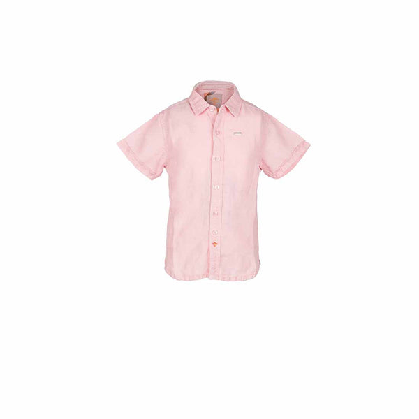 Boys Small Collar Shirt with Needle Stitch Yoke