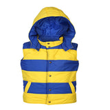 Boys Yellow Detachable Hoodie Reversible Jacket