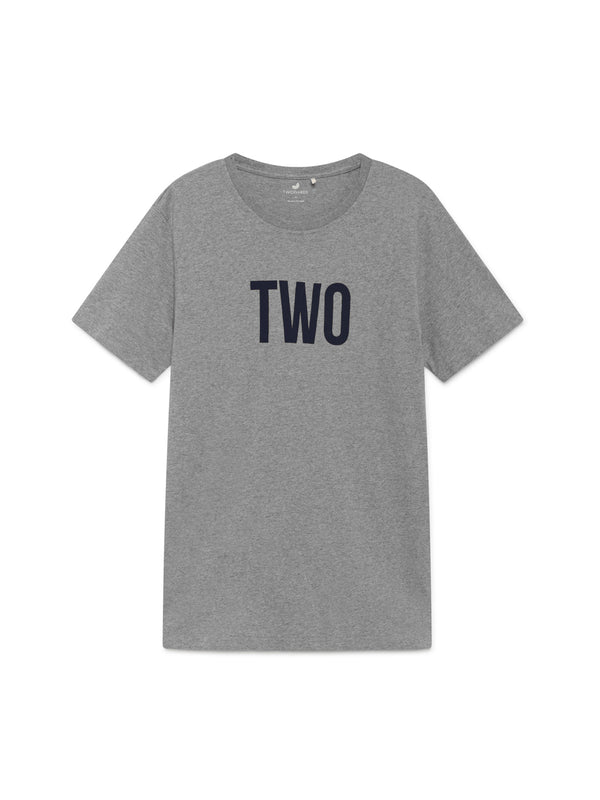 TWOTHIRDS Mens Tee: Algroy - Grey Navy front