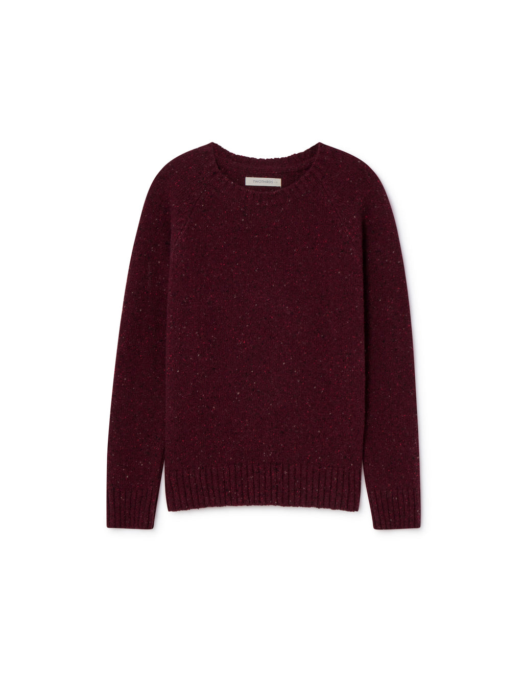 TWOTHIRDS Womens Knit: Agpat - Burgundy front