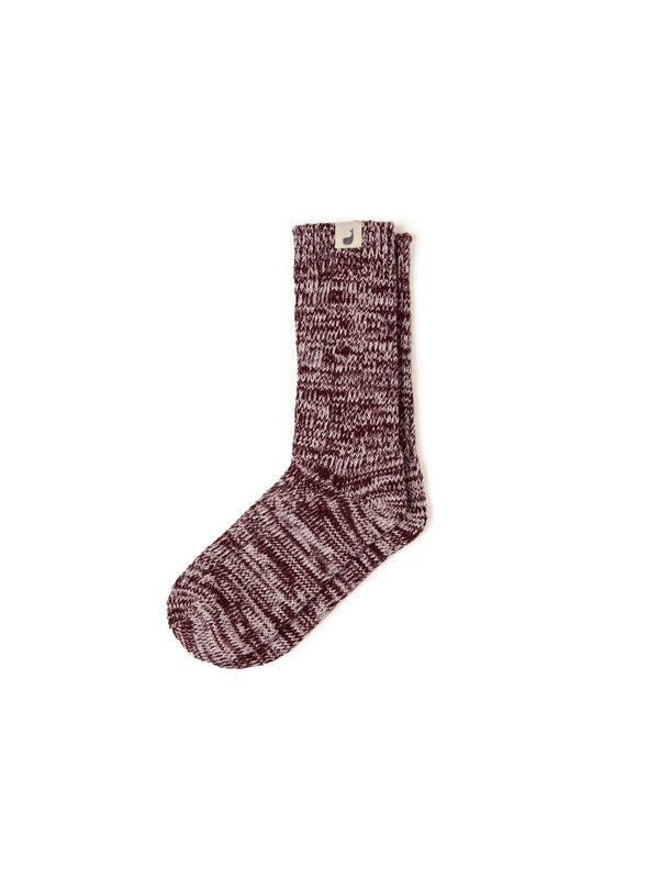 Alofi Socks Woman - Burgundy