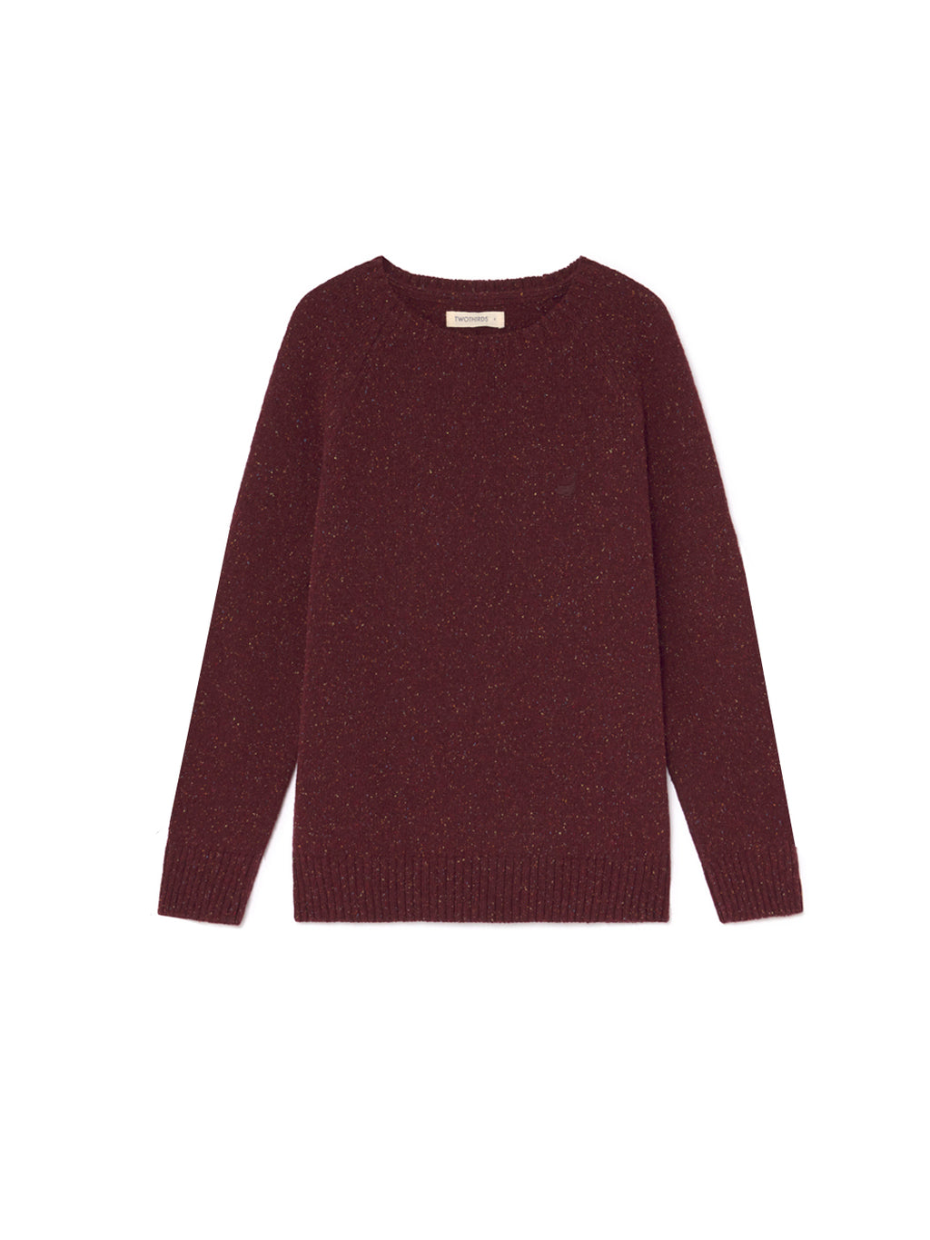 TWOTHIRDS Mens Knit: Anaa - Burgundy front