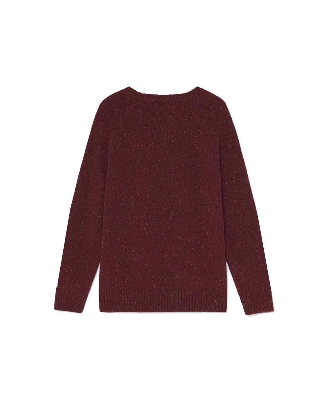 TWOTHIRDS Mens Knit: Anaa - Burgundy back