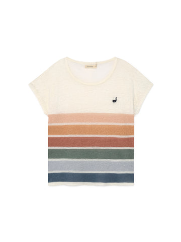 TWOTHIRDS Womens Tee: Aratua - Stripes front