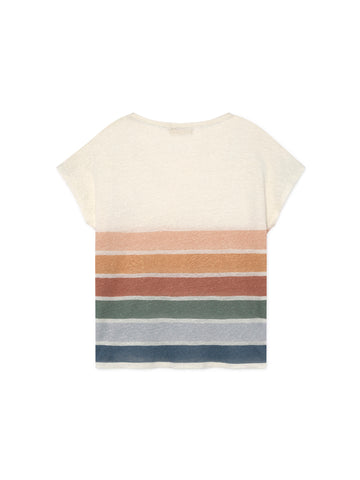 TWOTHIRDS Womens Tee: Aratua - Stripes back
